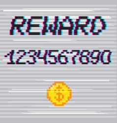 pixel reward phrase vector image vector image