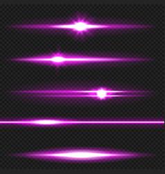 purple laser beams pack vector image