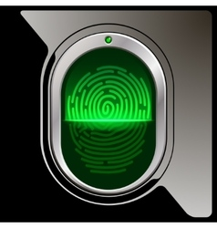 Safety device fingerprint reade vector image