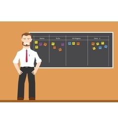 scrum agile board vector image