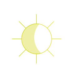 Silhouette sun and hot natural weather vector
