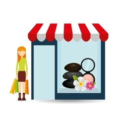 spa woman buys gifts vector image
