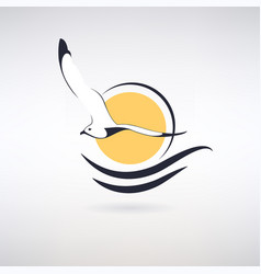 symbol seagull vector image