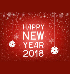 text happy new year with snowflakes vector image vector image