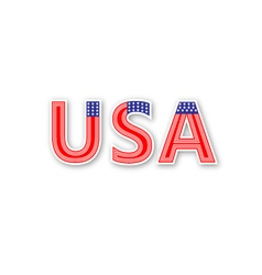Usa text vector image vector image