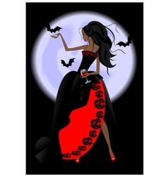 vampire girl vector image vector image