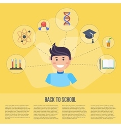 Back to school infographics concept vector image