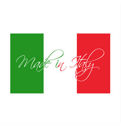 Made in italy symbol italian flag vector