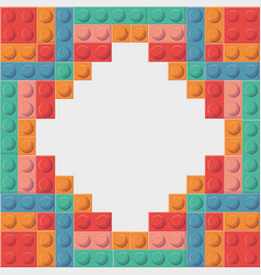 Lego icon abstract frame figure graphic vector