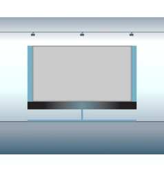 Presentation advertising board vector