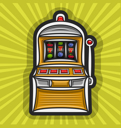 Poster for slot machine vector
