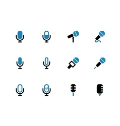 Microphone duotone icons on white background vector