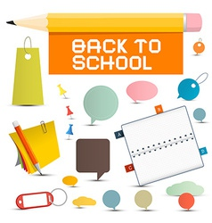 Back to School Objects vector image
