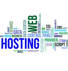 Word cloud web hosting vector