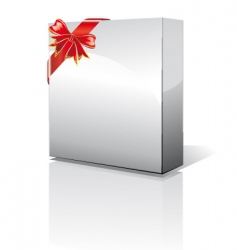 3d box with shadow vector image vector image