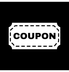 The coupon icon discount and gift offer symbol vector