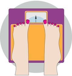 Feet on scale vector