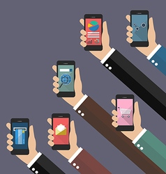 Application on mobile concept vector image