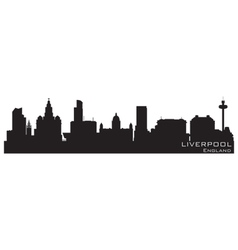 Liverpool england skyline detailed silhouette vector