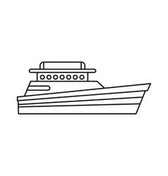 Great powerboat icon outline style vector