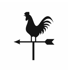 Weather vane with cock icon simple style vector