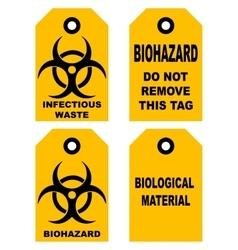 Biohazard symbol sign of biological threat alert vector image