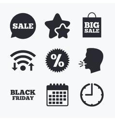 Sale speech bubble icon discount star symbol vector