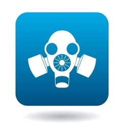 Gas mask icon in simple style vector