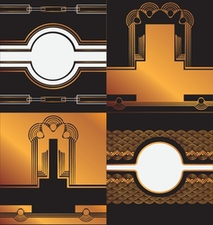 art deco background vector image vector image