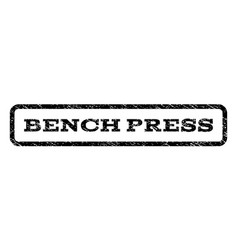 Bench press watermark stamp vector