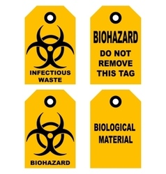Biohazard symbol sign of biological threat alert vector image