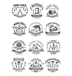 Building and construction work tools icons vector