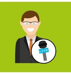Concept news interviewed icon design vector