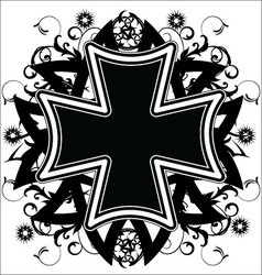 Cross tattoo vector image vector image