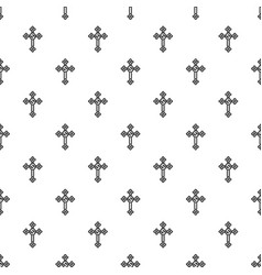 cross with diamonds pattern vector image