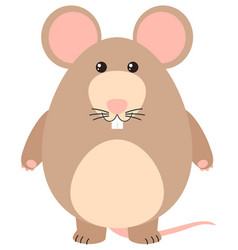 cute rat with happy face vector image vector image