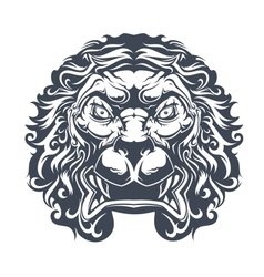 Danger heraldic lion vector image