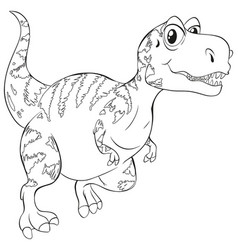 doodle animal for t-rex dinosaur vector image