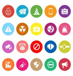 General useful flat icons on white background vector