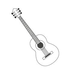Guitar contour black white vector
