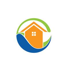 House eco icon logo vector