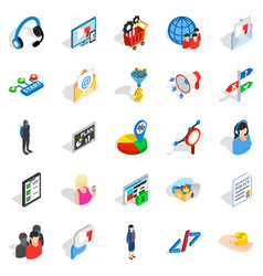 Human being icons set isometric style vector