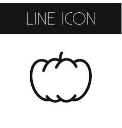 Isolated gourd outline pumpkin element can vector