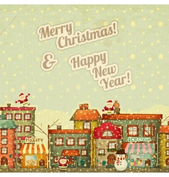 Merry Christmas and New Years vector image vector image