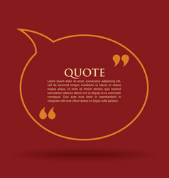 quote marks blank template card vector image