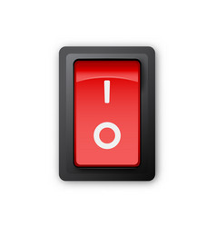 Red pc electric switch off position vector
