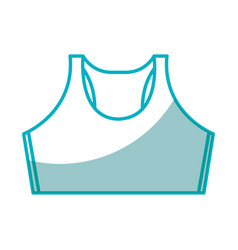 shirt female gym wear vector image