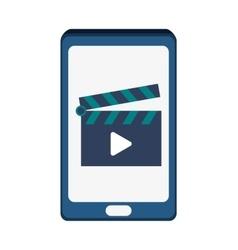 Smartphone movie and big data design vector