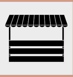 striped awning icon vector image