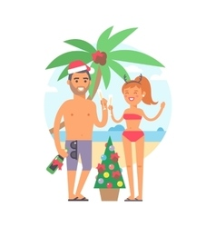Summer family people vector image vector image